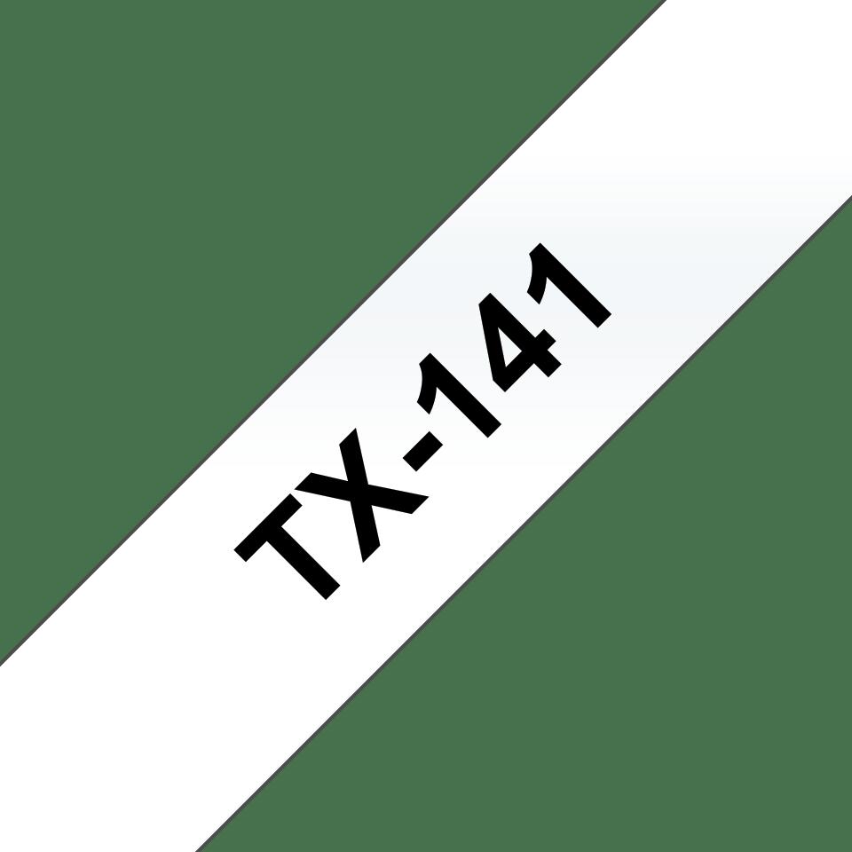 Originální pásková kazeta pro tisk štítků Brother TX141 – černý tisk na čirém podkladu, šířka 18 mm