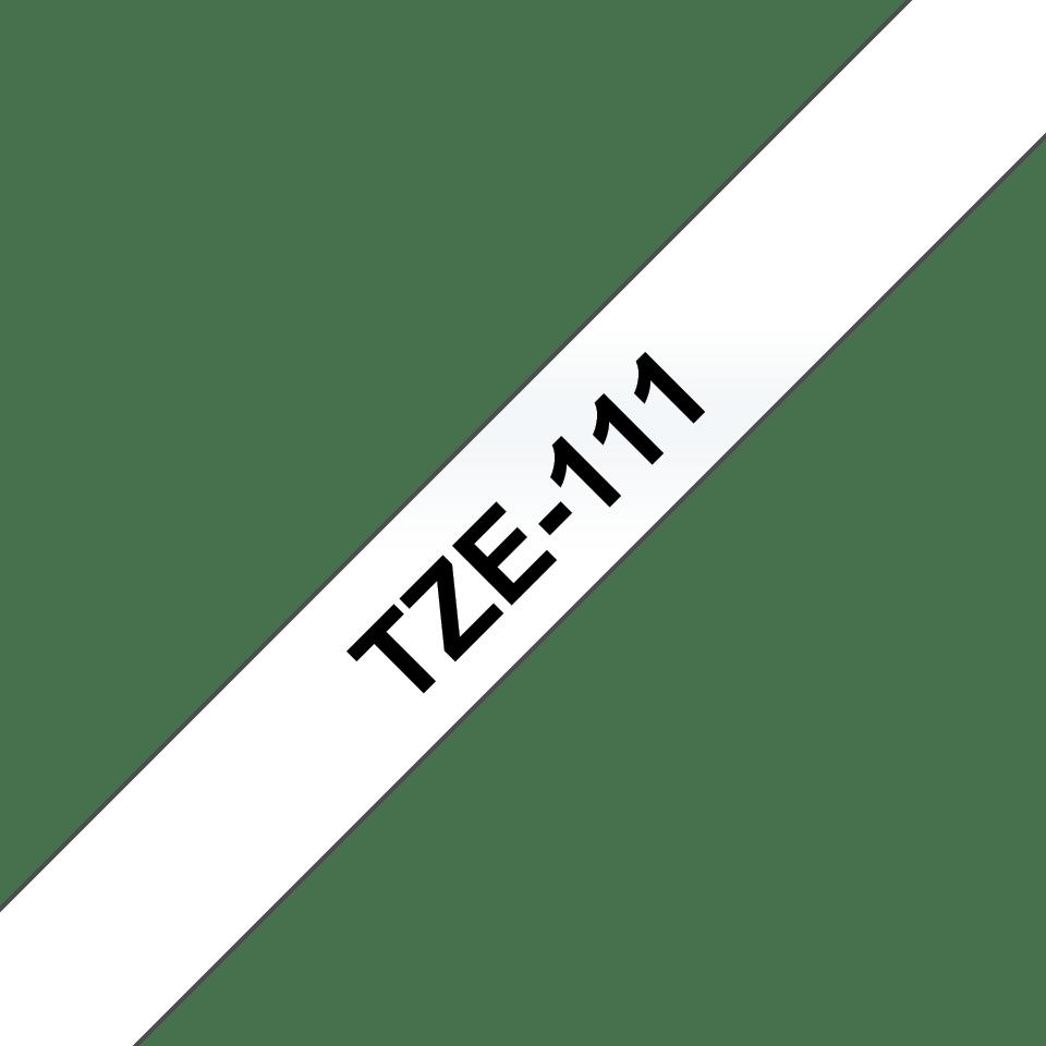 Originální pásková kazeta pro tisk štítků Brother TZe111 – černý tisk na čirém podkladu, šířka 6 mm 3