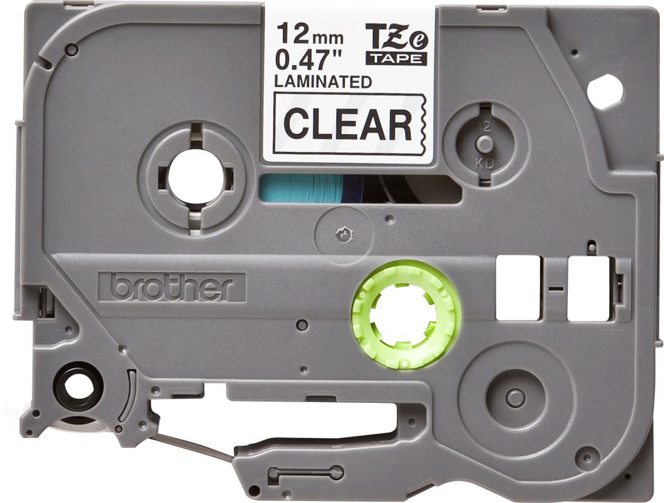 Originální kazeta s páskou Brother TZe-131 - černý tisk na průsvitné, šířka 12 mm