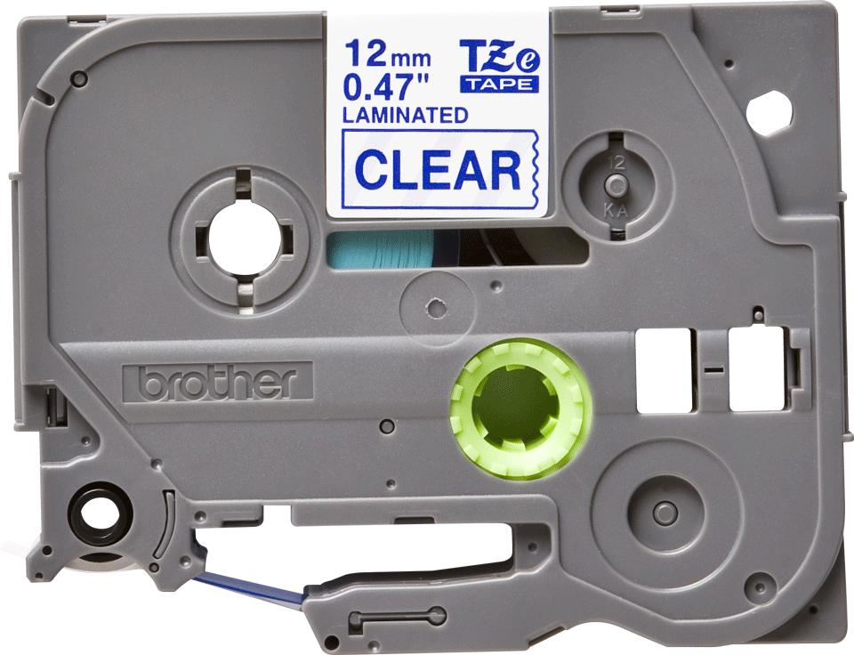 Originální kazeta s páskou Brother TZe-133 - modrý tisk na průsvitné, šířka 12 mm 2