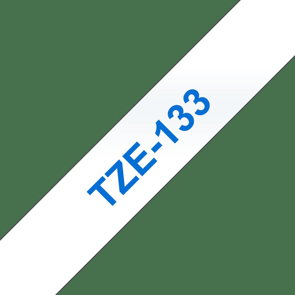Originální kazeta s páskou Brother TZe-133 - modrý tisk na průsvitné, šířka 12 mm