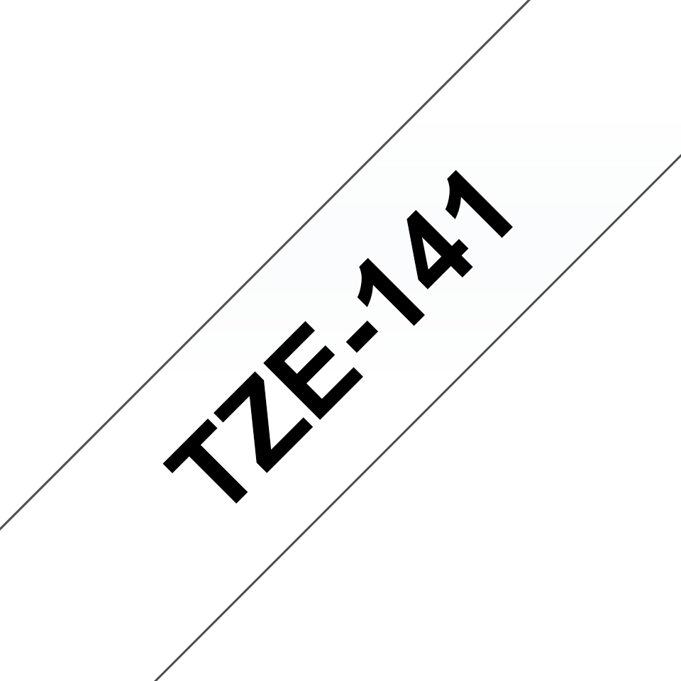 Originální kazeta s páskou Brother TZe-141 - černý tisk na průsvitné, šířka 18 mm 3