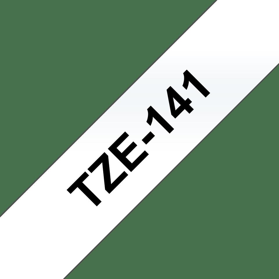 Originální kazeta s páskou Brother TZe-141 - černý tisk na průsvitné, šířka 18 mm