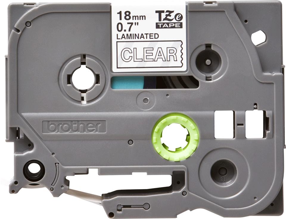 Originální kazeta s páskou Brother TZe-145 - bílý tisk na průsvitné, šířka 18 mm