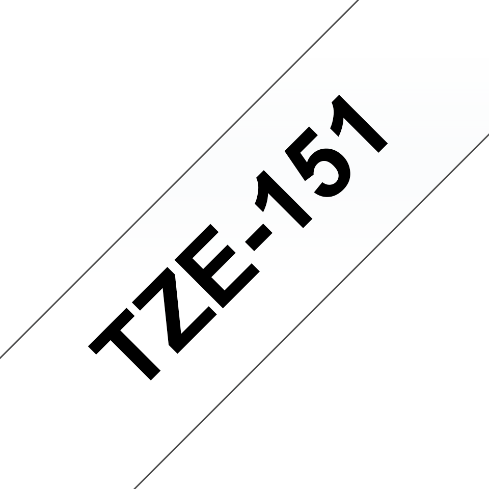 Originální kazeta s páskou Brother TZe-151 - černý tisk na průsvitné, šířka 24 mm 3