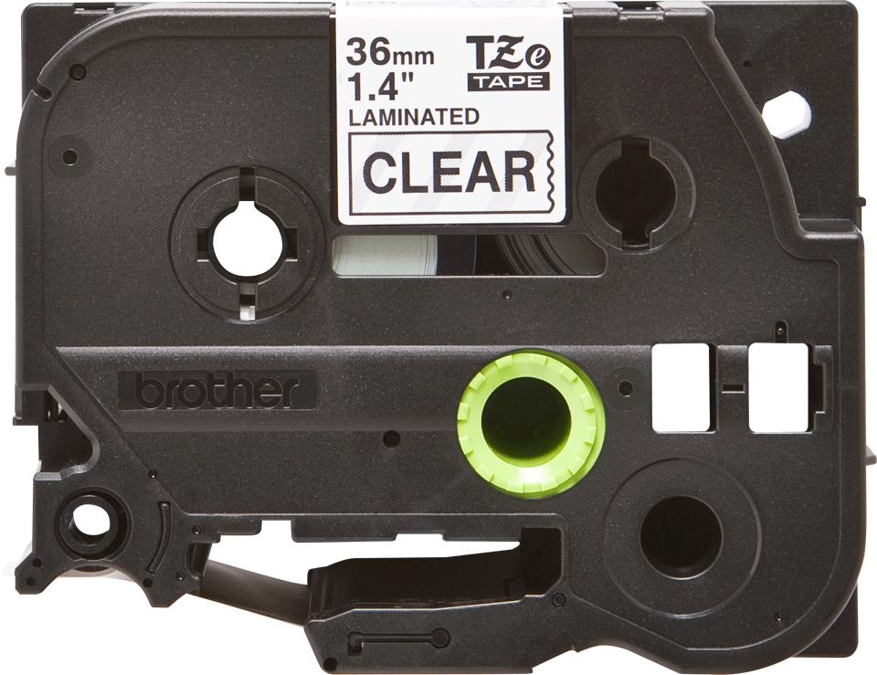 Originální kazeta s páskou Brother TZe-161 - černý tisk na průsvitné, šířka 36 mm