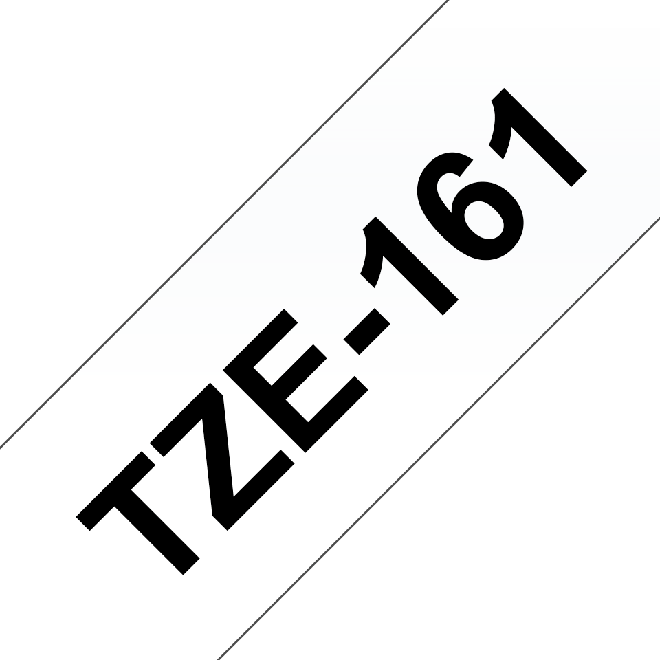 Originální kazeta s páskou Brother TZe-161 - černý tisk na průsvitné, šířka 36 mm 3