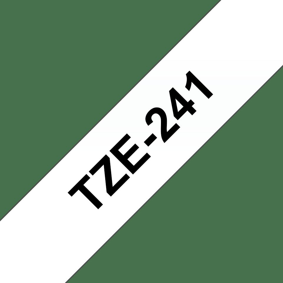 Originální kazeta s páskou Brother TZe-241 - černý tisk na bílé, šířka 18 mm 3