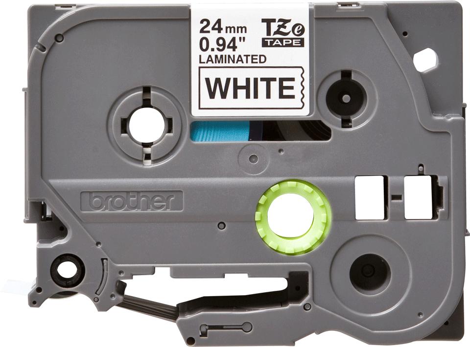 Originální kazeta s páskou Brother TZe-251 - černý tisk na bílé, šířka 24 mm