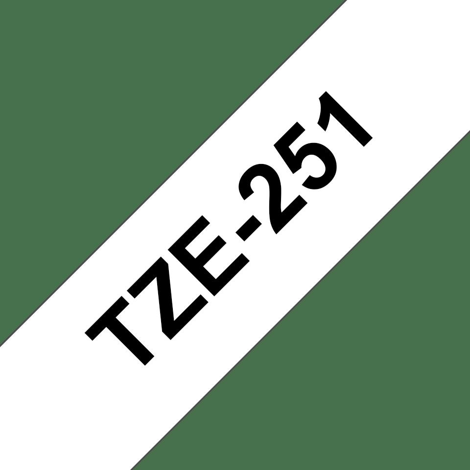 Originální kazeta s páskou Brother TZe-251 - černý tisk na bílé, šířka 24 mm 3