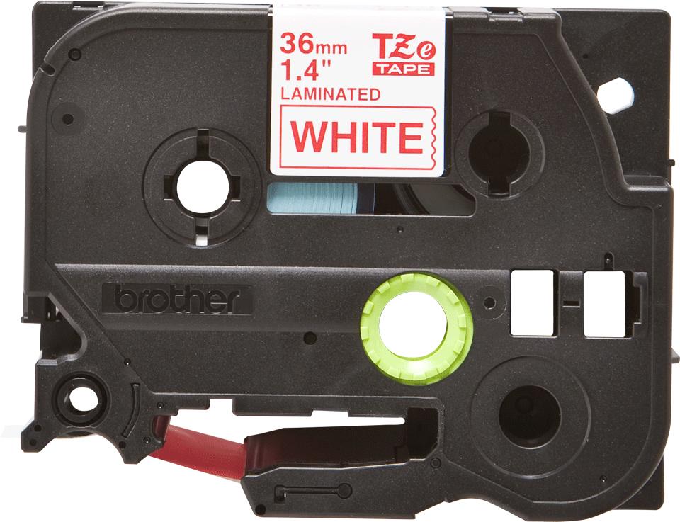Originální kazeta s páskou Brother TZe-262 - červený tisk na bílé, šířka 36 mm 2