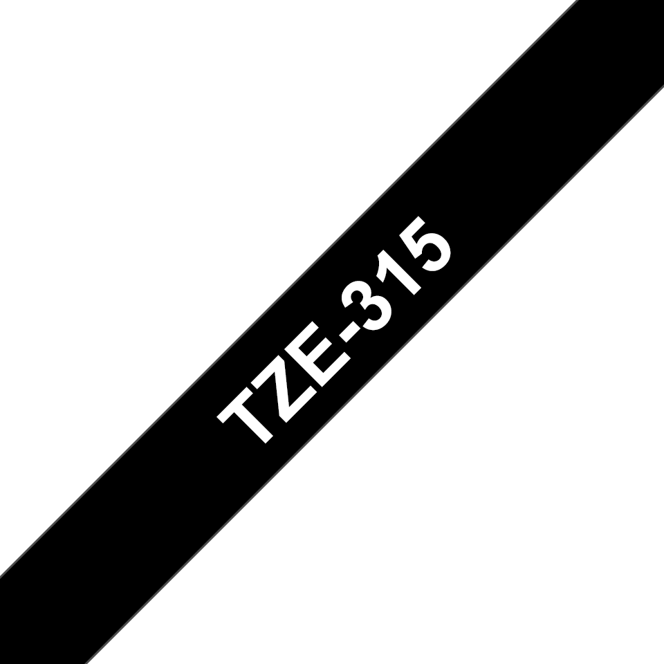 Originální kazeta s páskou Brother TZe-315 - bílý tisk na černé, šířka 6 mm 3