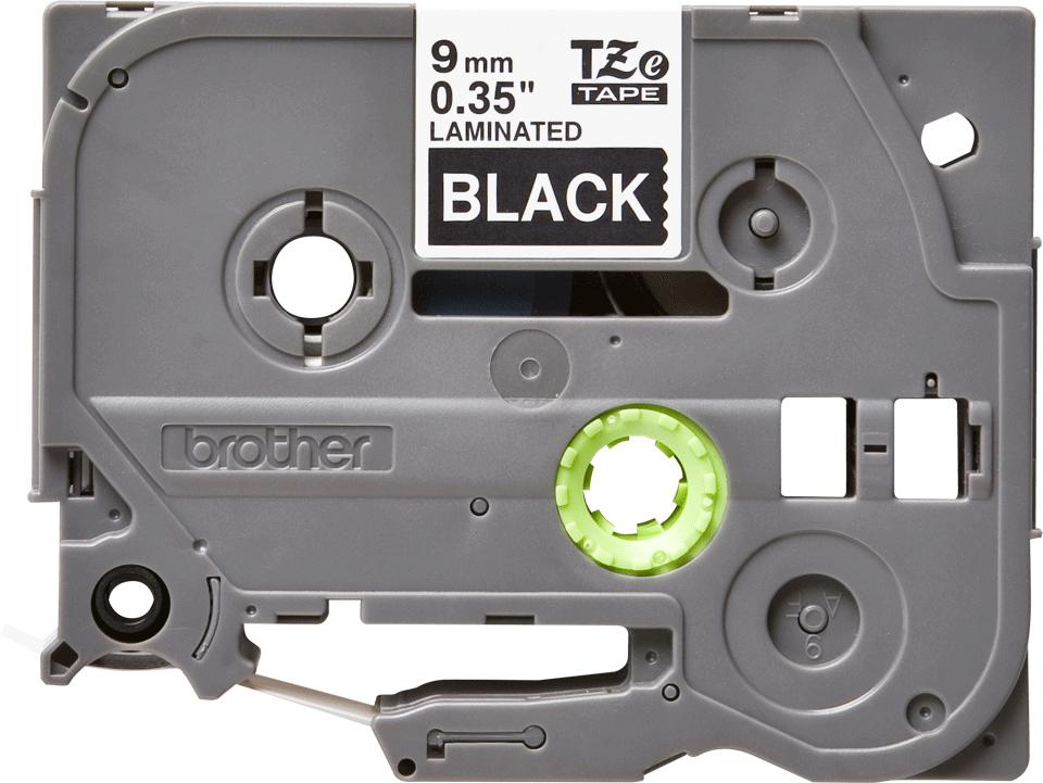 Originální kazeta s páskou Brother TZe-325 - bílý tisk na černé, šířka 9 mm