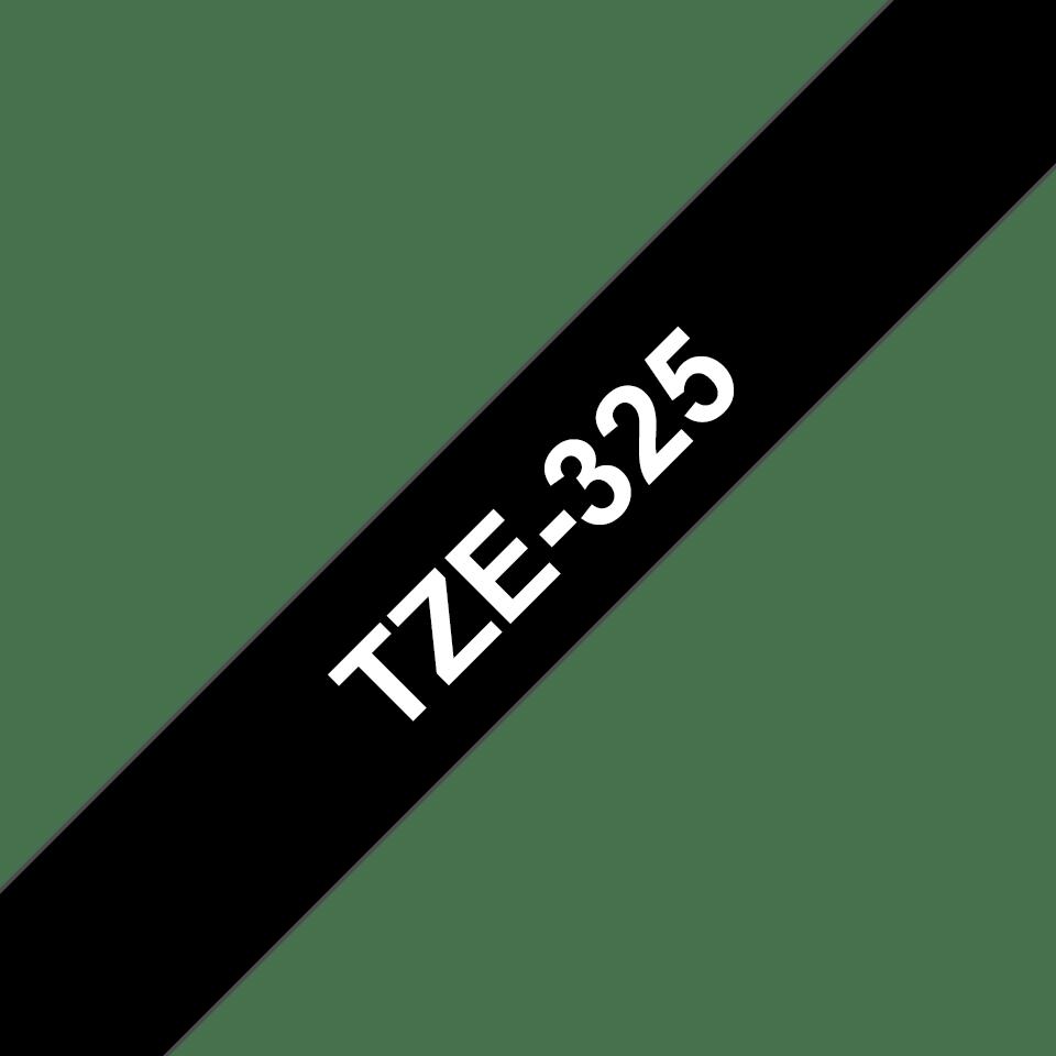 Originální kazeta s páskou Brother TZe-325 - bílý tisk na černé, šířka 9 mm 3