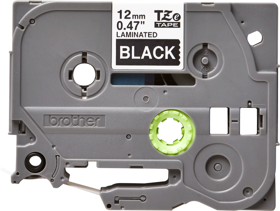 Originální páska Brother TZe335 pro tisk štítků – bílý tisk na černém podkladu, šířka 12 mm