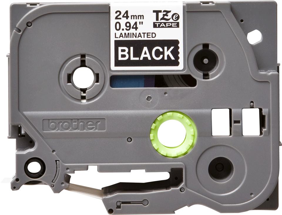 Originální kazeta s páskou Brother TZe-355 - bílý tisk na černé, šířka 24 mm