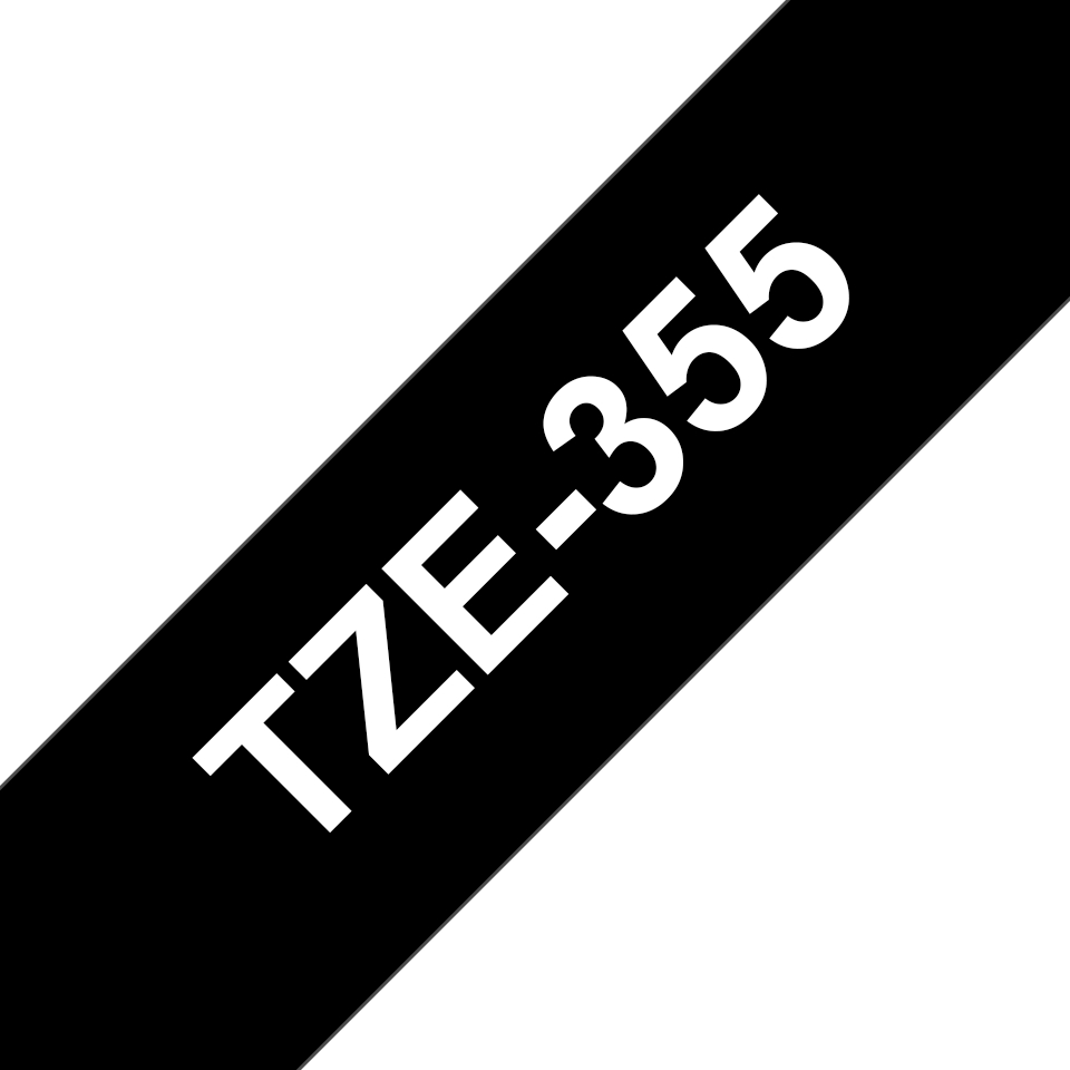 Originální kazeta s páskou Brother TZe-355 - bílý tisk na černé, šířka 24 mm 3