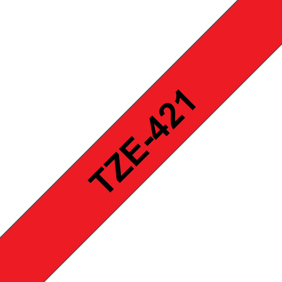 Originální kazeta s páskou Brother TZe-421 - černý tisk na červené, šířka 9 mm