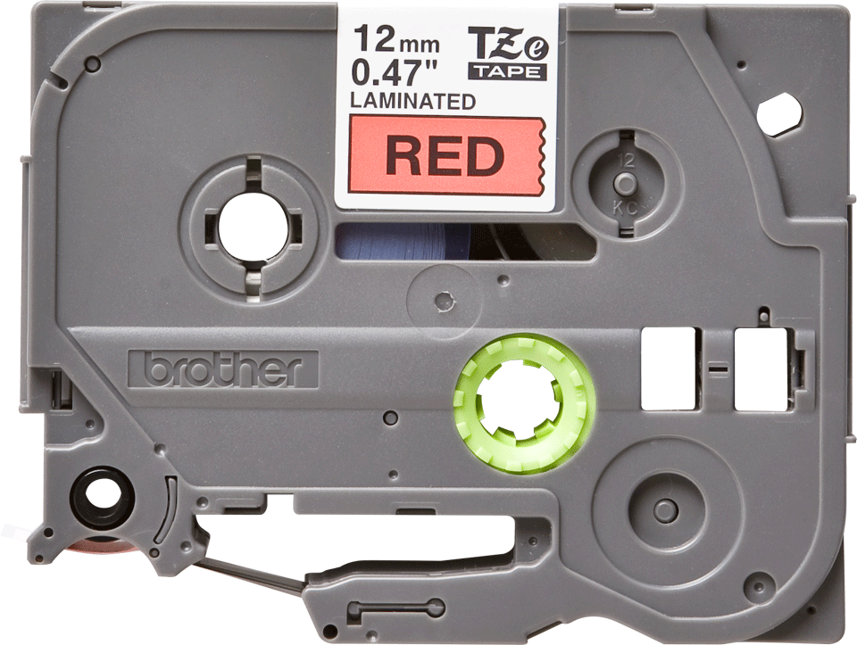 Originální kazeta s páskou Brother TZe-431 - černý tisk na červené, šířka 12 mm