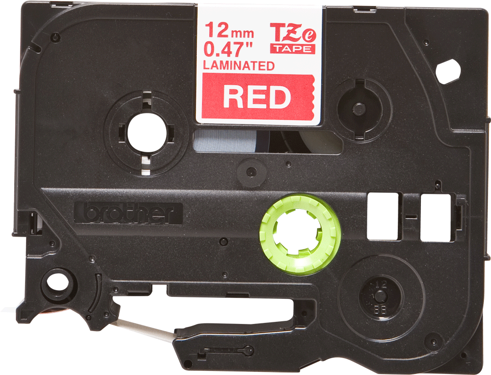 Originální kazeta s páskou Brother TZe-435 - bílý tisk na červené, šířka 12 mm 2