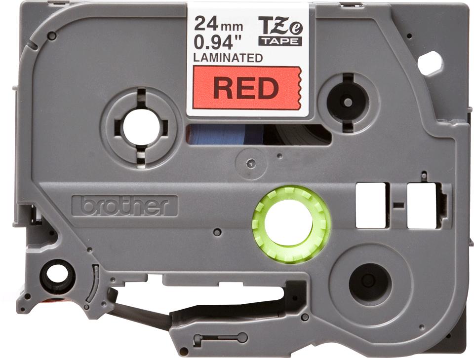Originální kazeta s páskou Brother TZe-451 - černý tisk na červené, šířka 24 mm