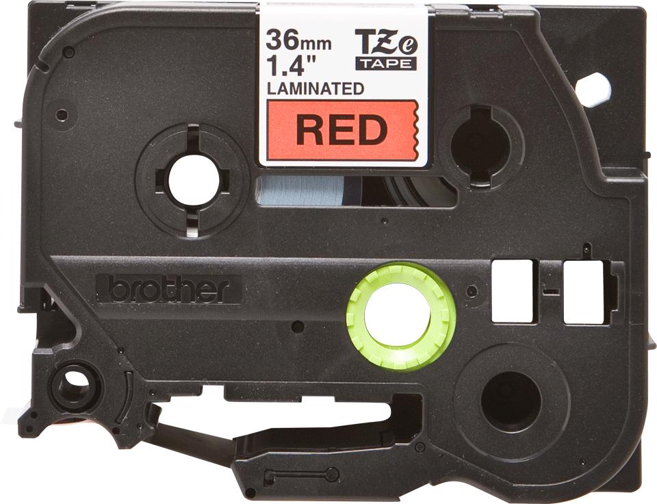 Originální kazeta s páskou Brother TZe-461 - černý tisk na červené, šířka 36 mm