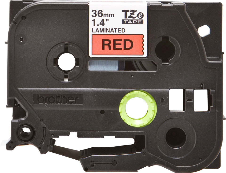 Originální kazeta s páskou Brother TZe-461 - černý tisk na červené, šířka 36 mm 2