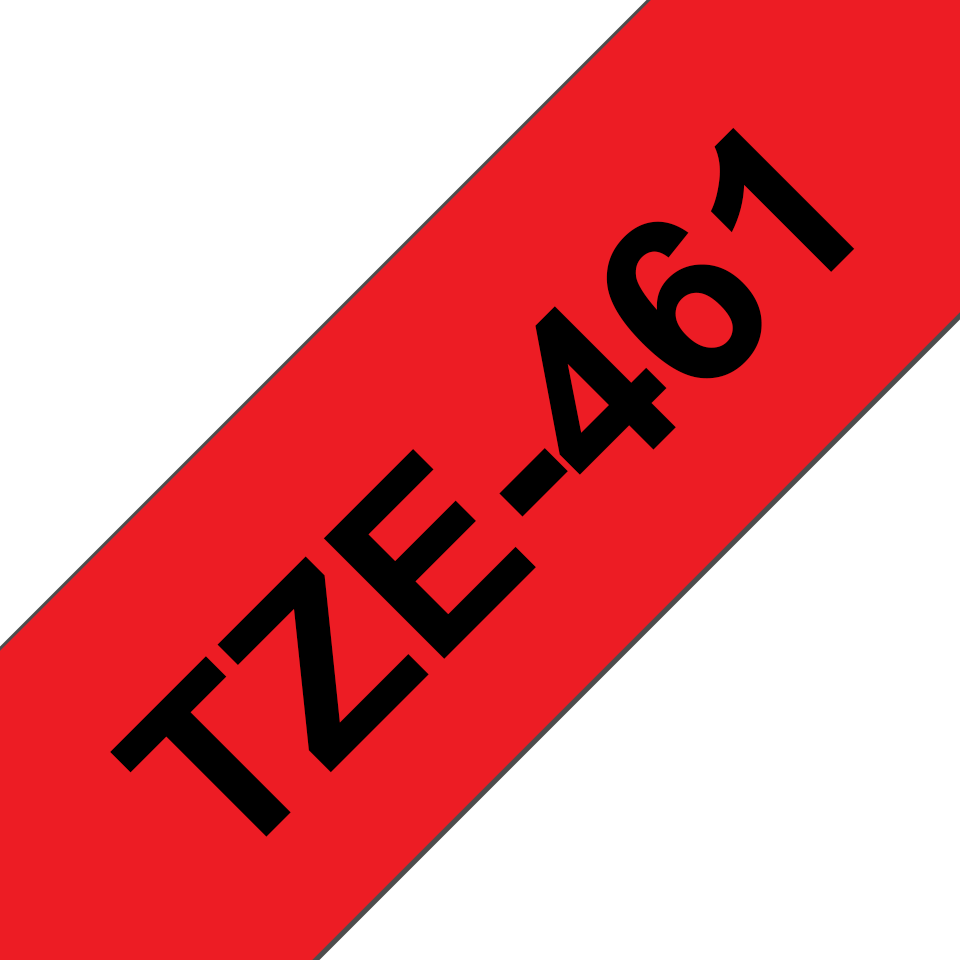 Originální kazeta s páskou Brother TZe-461 - černý tisk na červené, šířka 36 mm 3