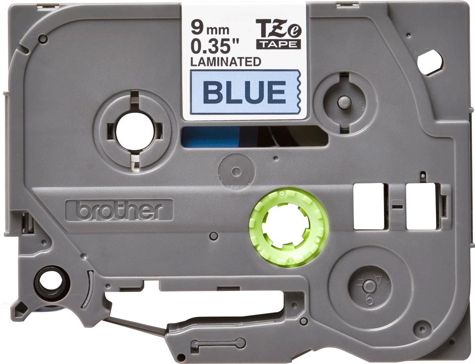 Originální kazeta s páskou Brother TZe-521 - černý tisk na modré, šířka 9 mm