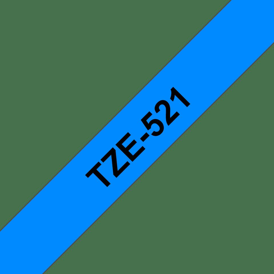Originální kazeta s páskou Brother TZe-521 - černý tisk na modré, šířka 9 mm 3
