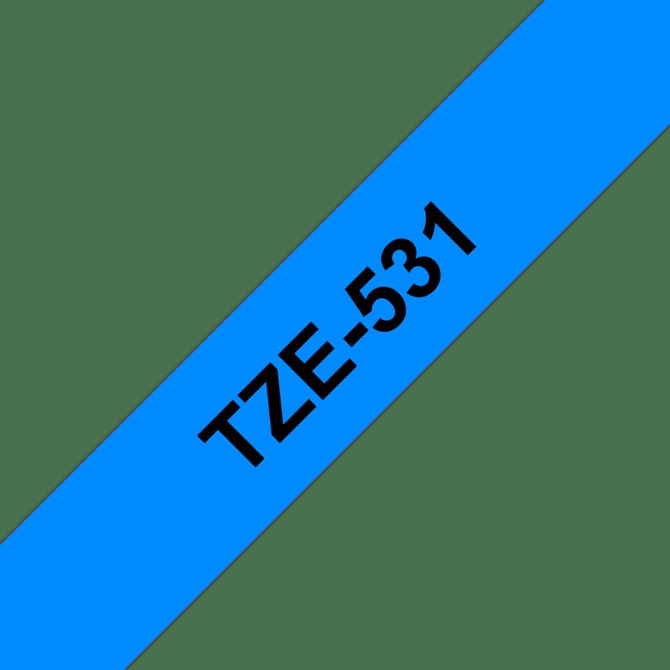 Originální kazeta s páskou Brother TZe-531 - černý tisk na modré, šířka 12 mm 3