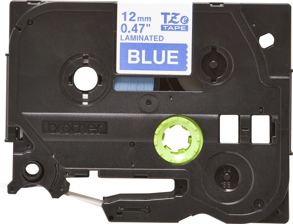 Originální kazeta s páskou Brother TZe-535 - bílý tisk na modré, šířka 12 mm 2