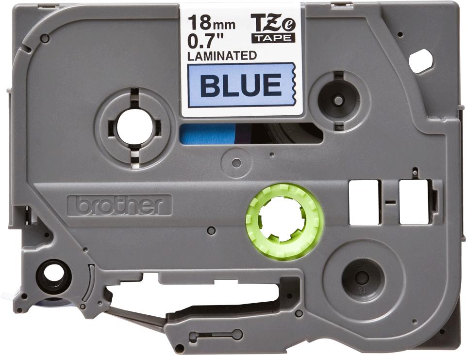 Originální kazeta s páskou Brother TZe-541 - černý tisk na modré, šířka 18 mm