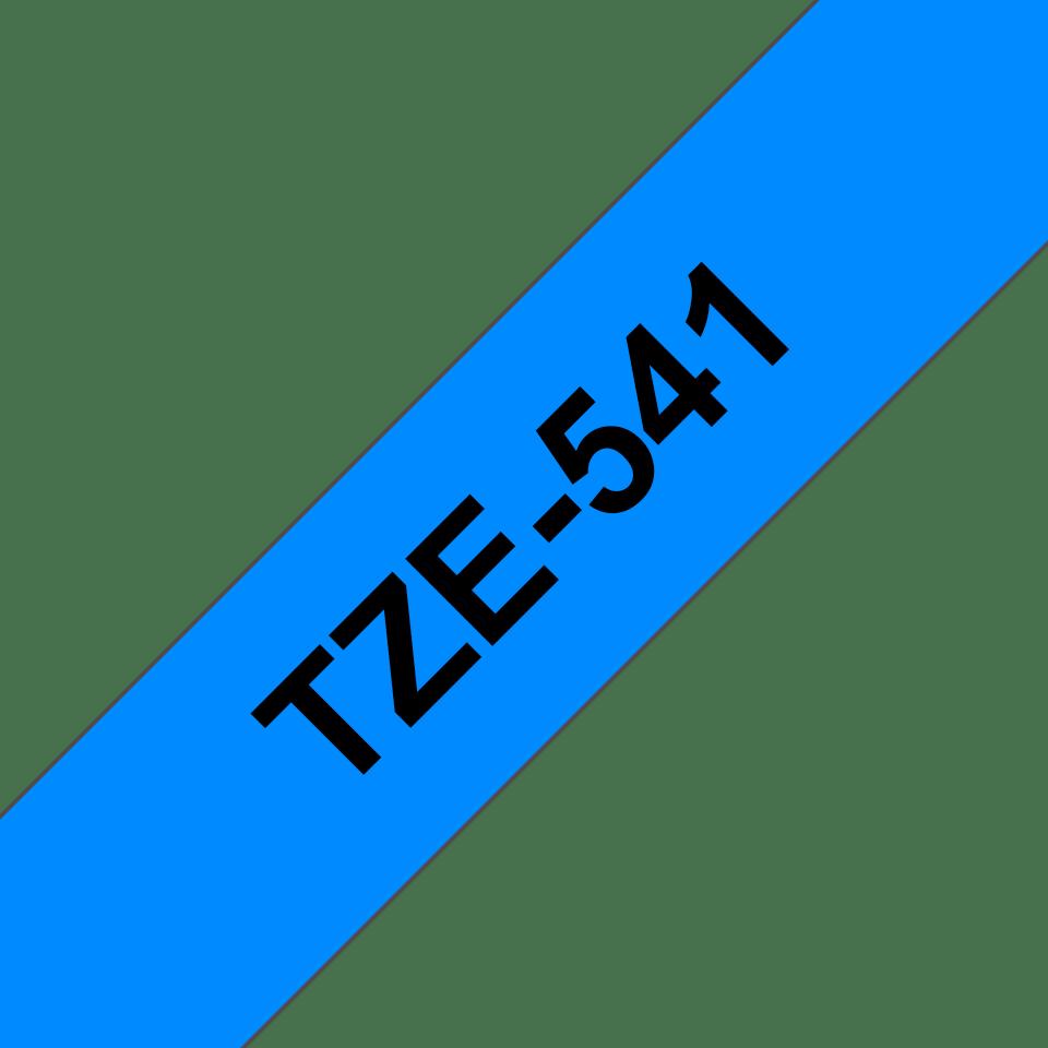 Originální kazeta s páskou Brother TZe-541 - černý tisk na modré, šířka 18 mm 3