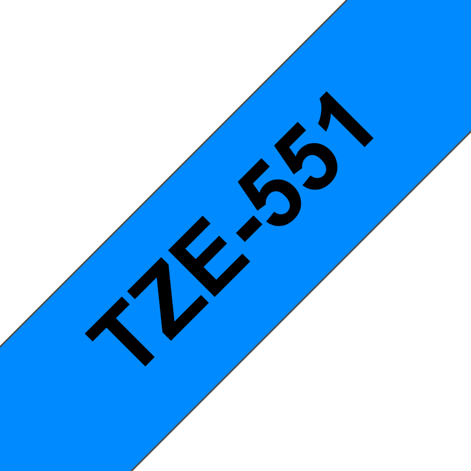 Originální kazeta s páskou Brother TZe-551 - černý tisk na modré, šířka 24 mm 3