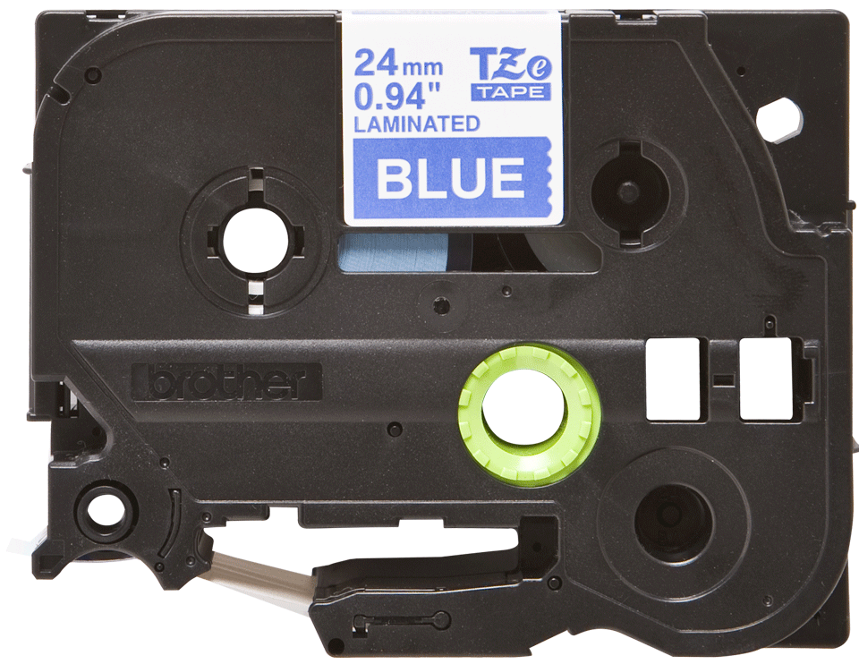 Originální kazeta s páskou Brother TZe-555 - bílý tisk na modré, šířka 24 mm