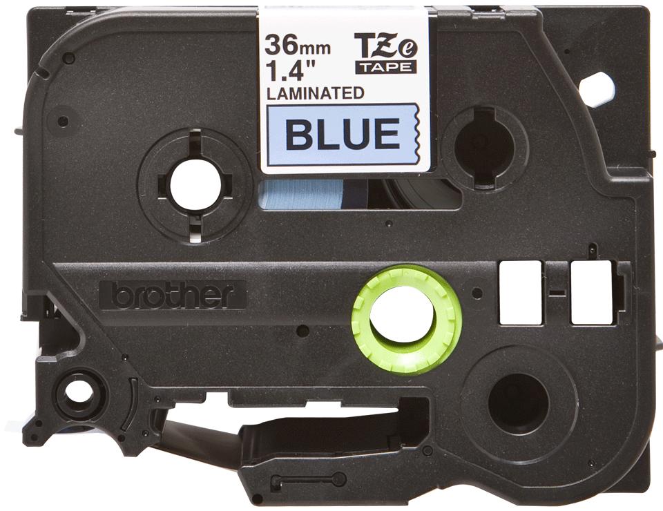 Originální kazeta s páskou Brother TZe-561 - černý tisk na modré, šířka 36 mm