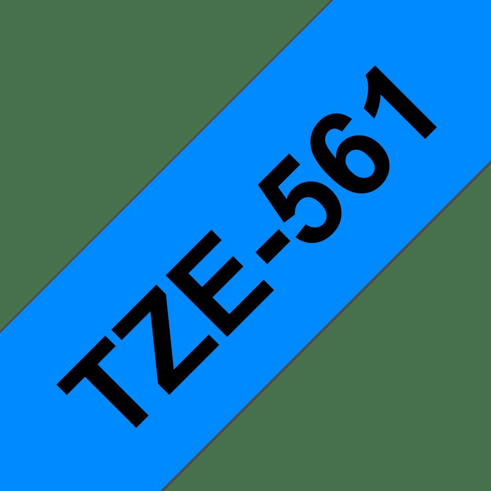 Originální kazeta s páskou Brother TZe-561 - černý tisk na modré, šířka 36 mm 3