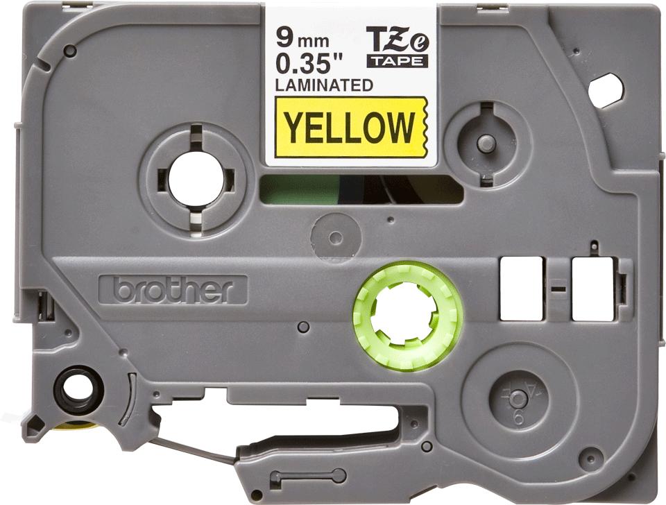 Originální kazeta s páskou Brother TZe-621 - černý tisk na žluté, šířka 12 mm