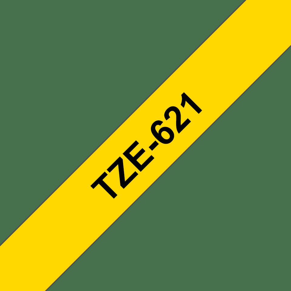 Originální kazeta s páskou Brother TZe-621 - černý tisk na žluté, šířka 12 mm 3