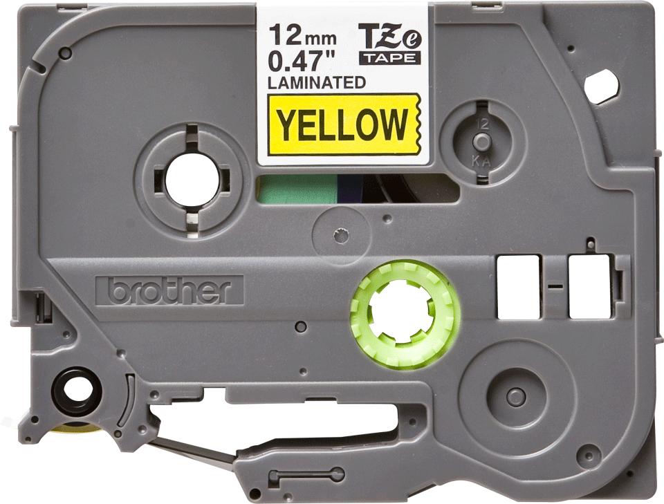 Originální kazeta s páskou Brother TZe-651 - černý tisk na žluté, šířka 12 mm 2