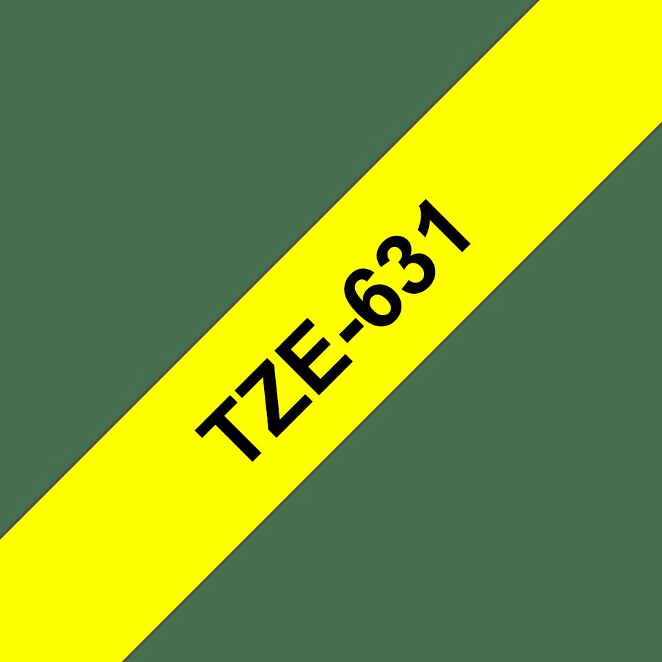 Originální kazeta s páskou Brother TZe-651 - černý tisk na žluté, šířka 12 mm 3