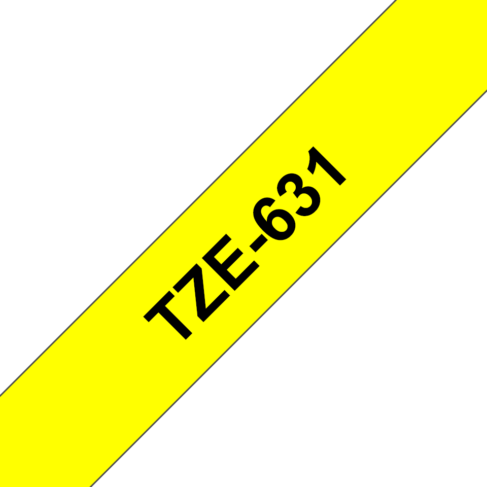 Originální kazeta s páskou Brother TZe-651 - černý tisk na žluté, šířka 12 mm
