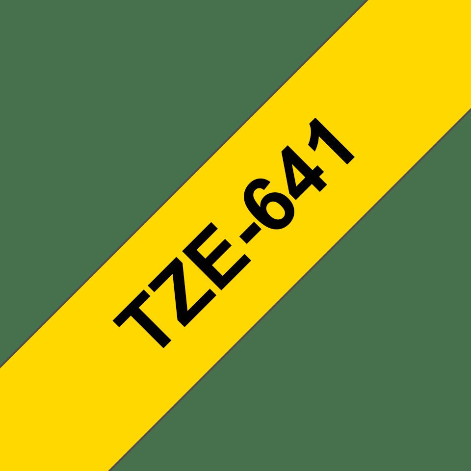 Originální kazeta s páskou Brother TZe-641 - černý tisk na žluté, šířka 18 mm 3