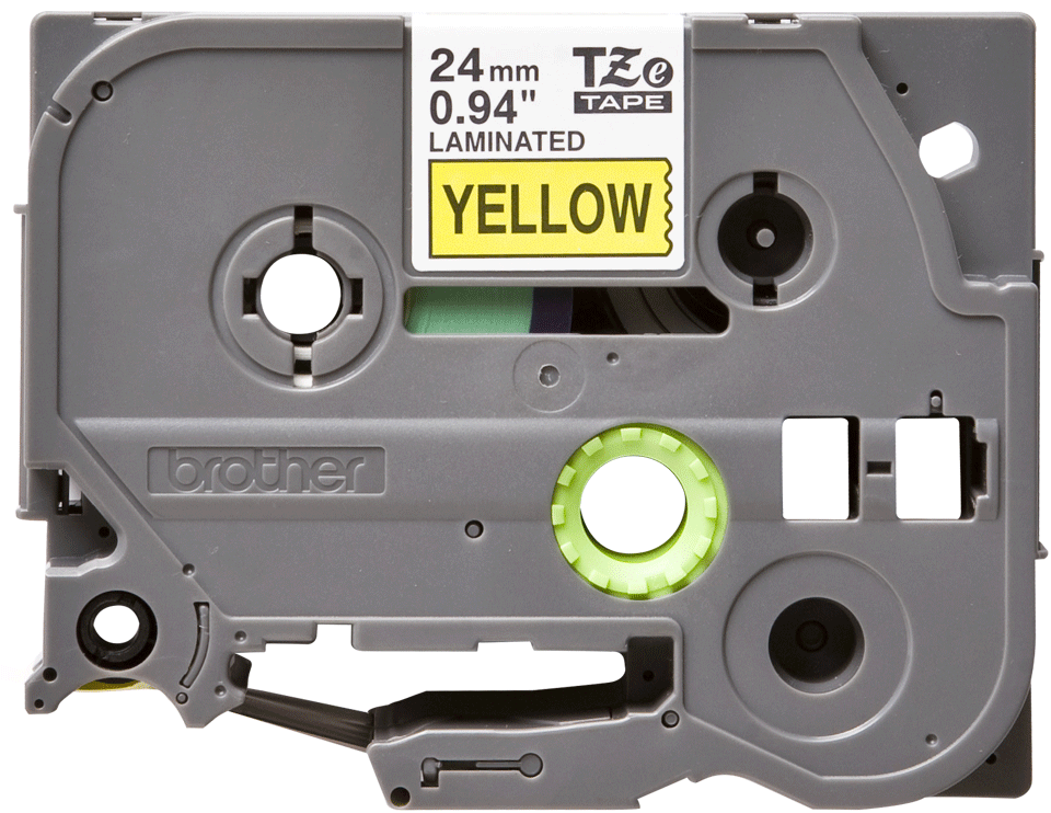 Originální kazeta s páskou Brother TZe-651 - černý tisk na žluté, šířka 24 mm
