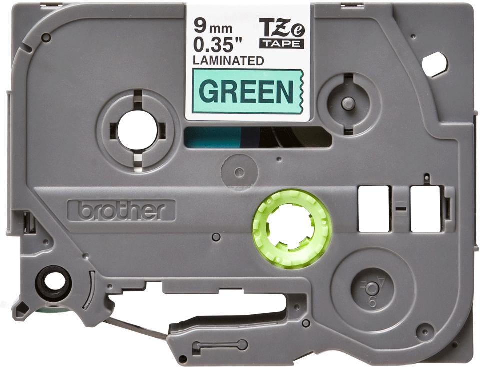 Originální kazeta s páskou Brother TZe-721 - černý tisk na zelené, šířka 9 mm