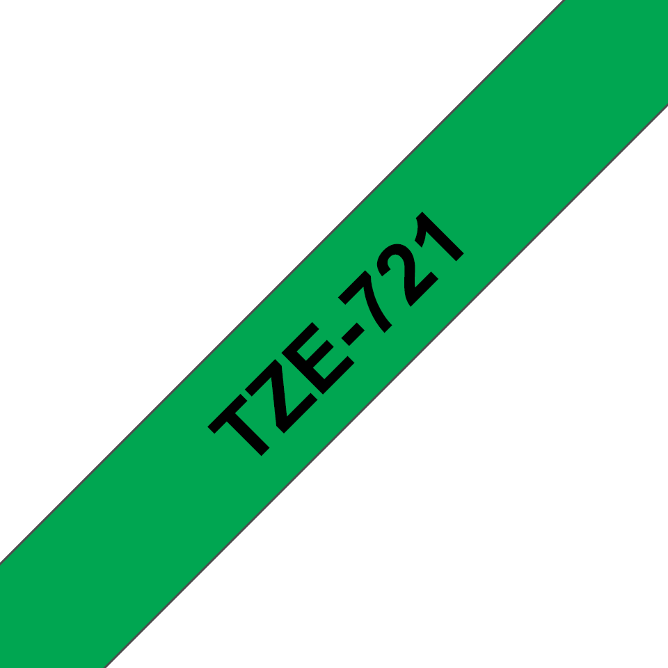 Originální kazeta s páskou Brother TZe-721 - černý tisk na zelené, šířka 9 mm 3