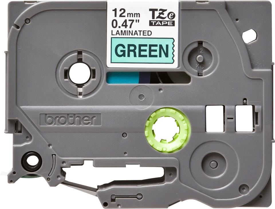 Originální kazeta s páskou Brother TZe-731 - černý tisk na zelené, šířka 12 mm
