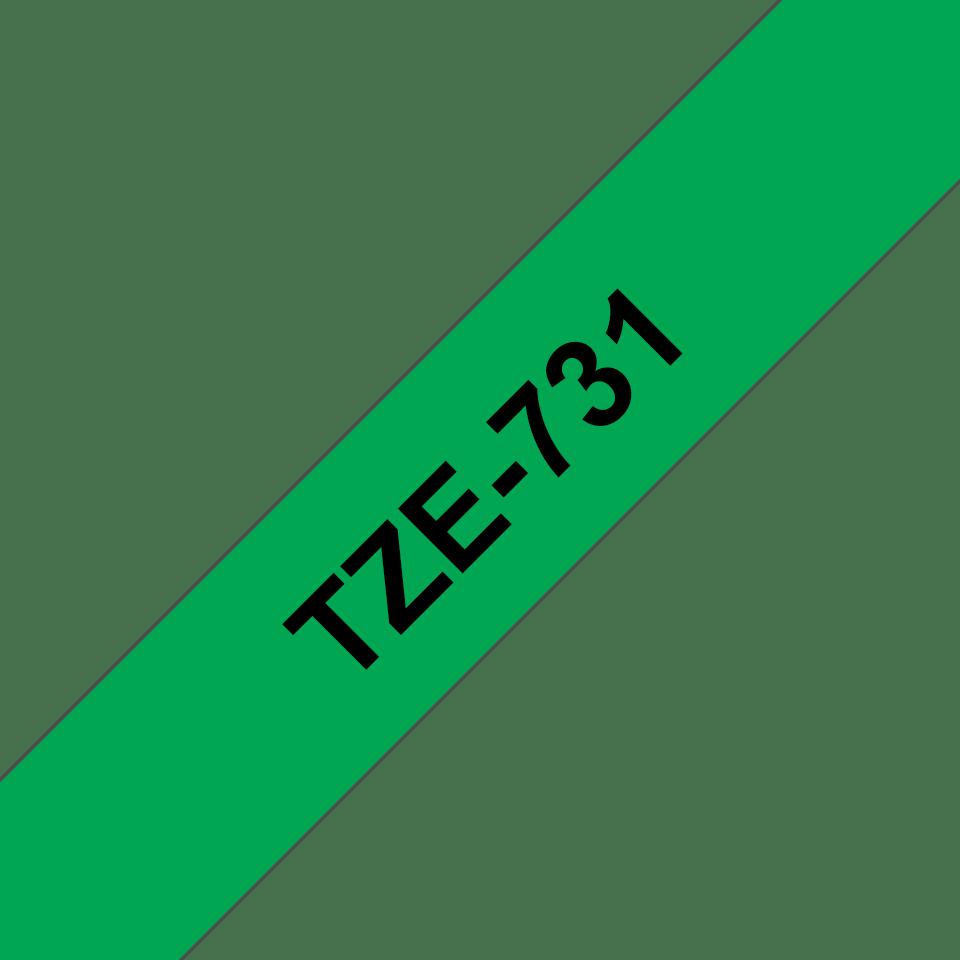 Originální kazeta s páskou Brother TZe-731 - černý tisk na zelené, šířka 12 mm 3