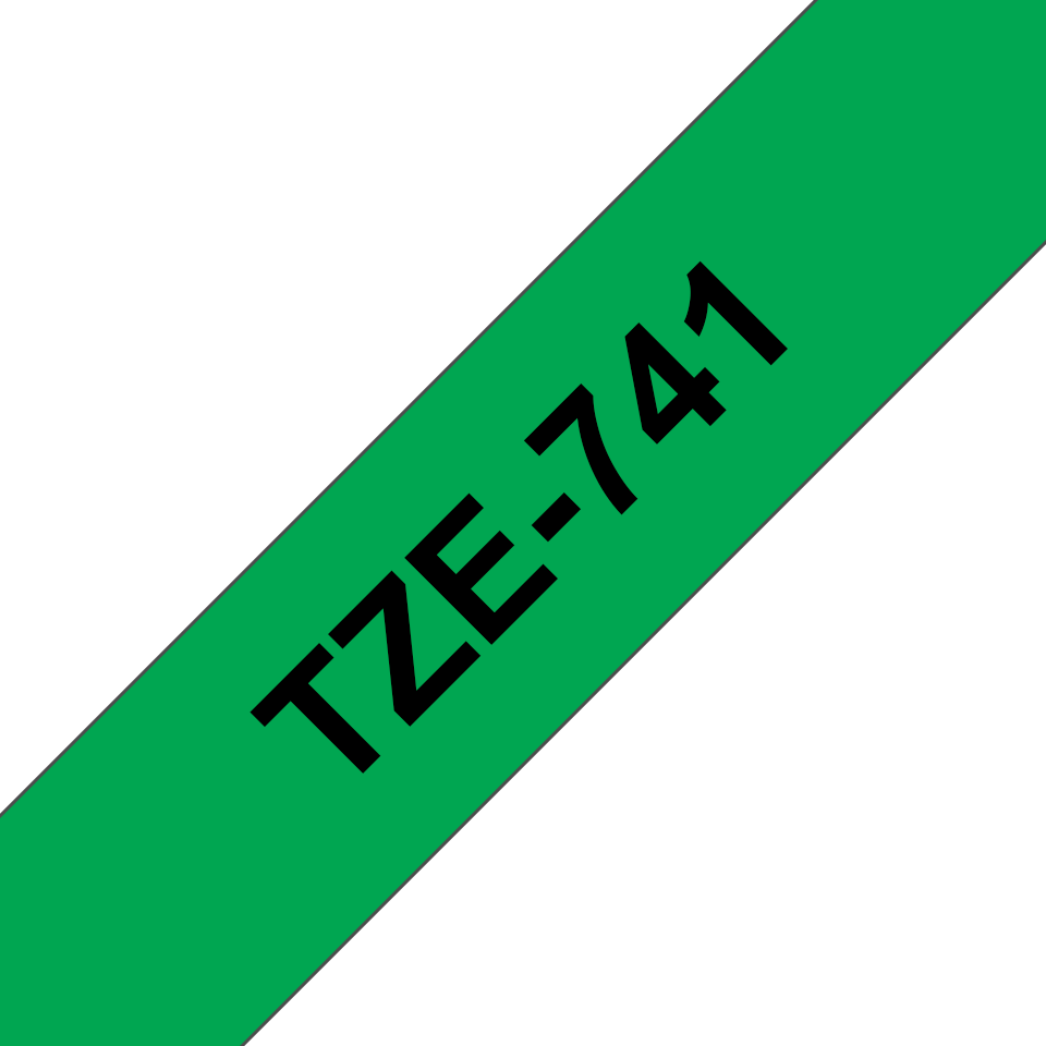 Originální kazeta s páskou Brother TZe-741 - černý tisk na zelené, šířka 18 mm 3